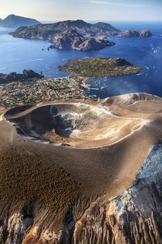 The Unesco-protected Aeolian Islands (Vulcano, Lipari, Salina, Panarea),Sicily, Italy