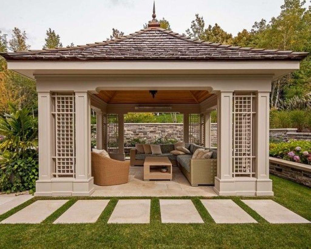 39 Excellent Modern Garden Design Ideas Homiku Com Pergola Backyard Gazebo Modern Gazebo Modern garden design with pergola