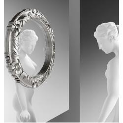 Photo of Ritratto Wandspiegel 110 silber