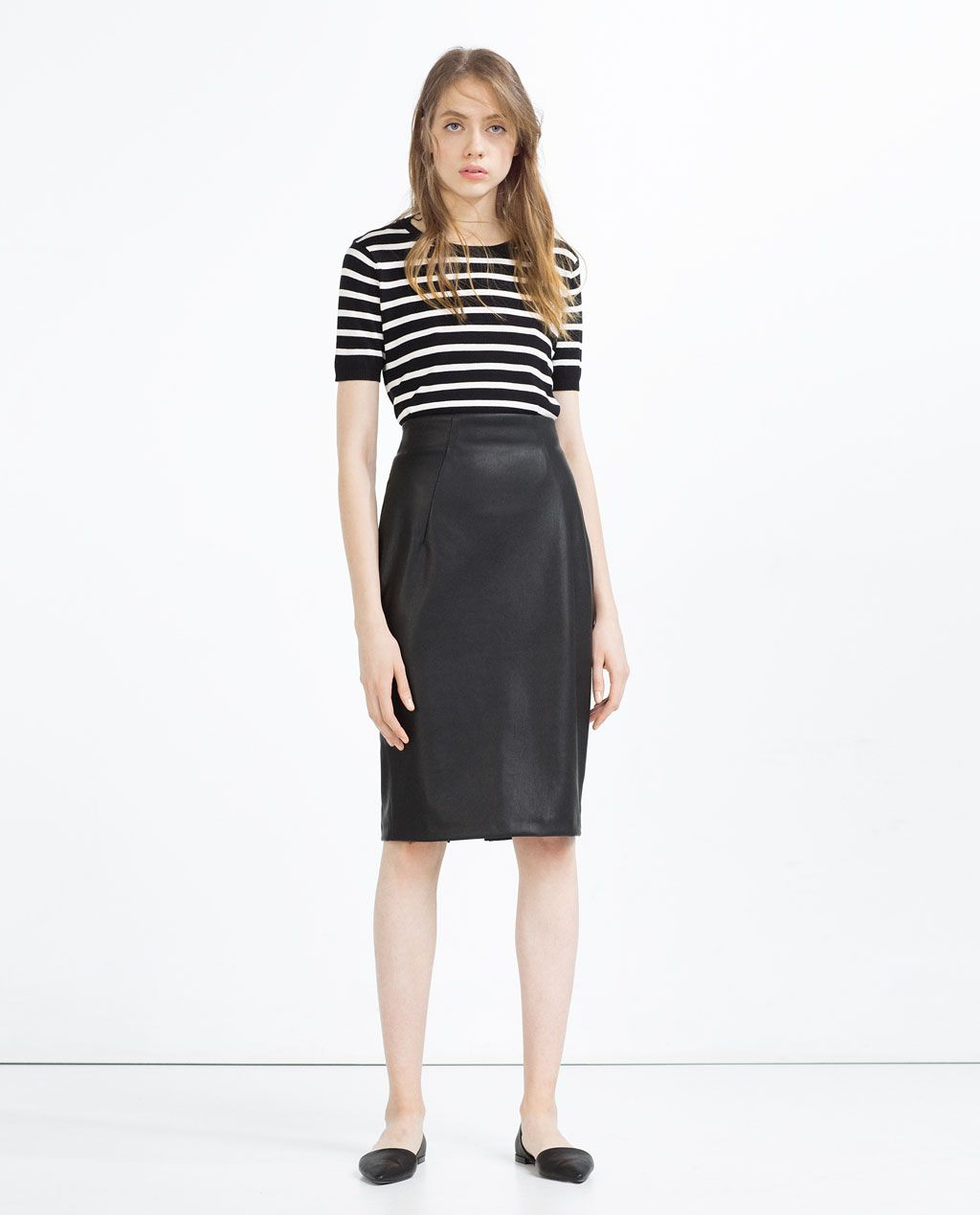 How to faux wear leather pencil skirt rare photo