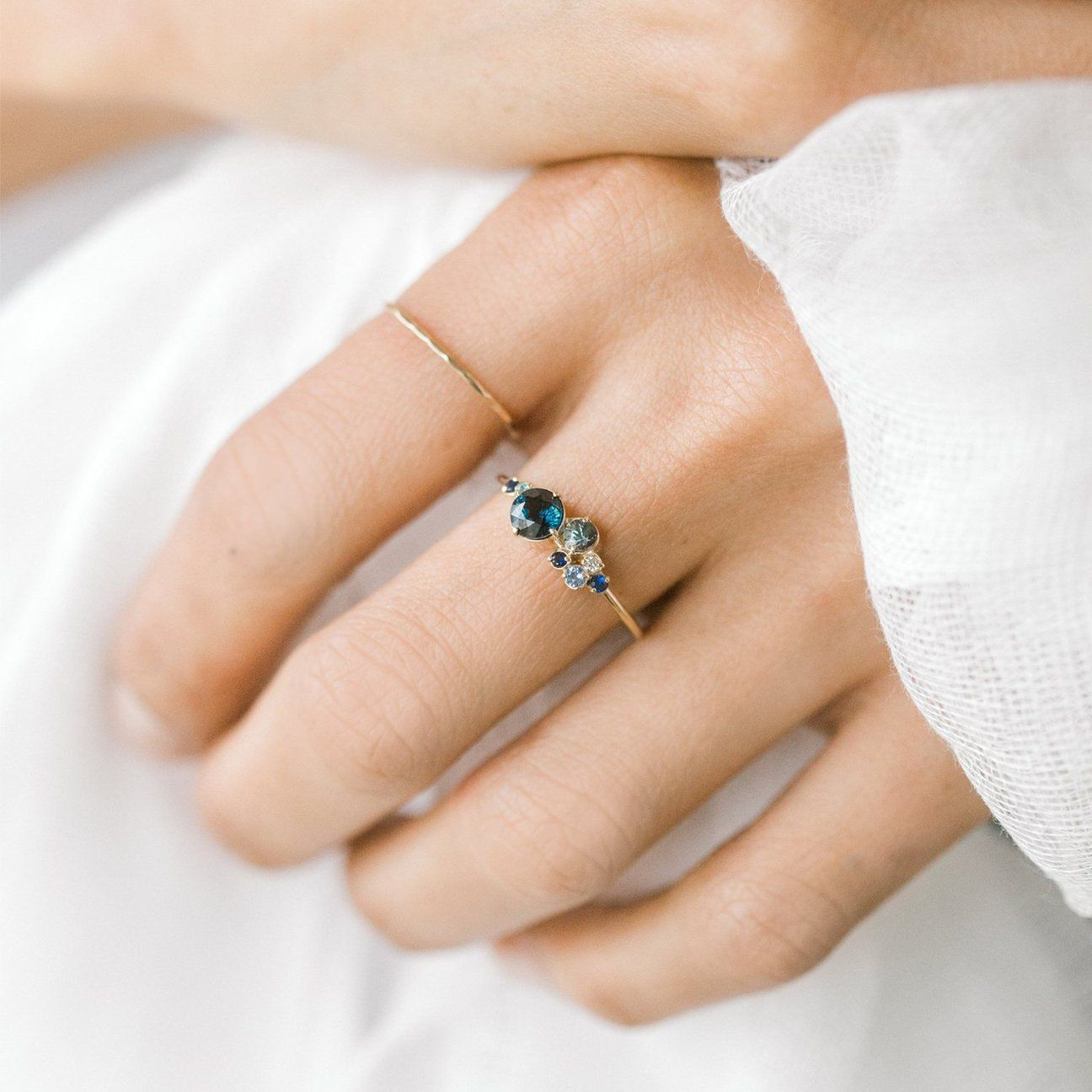Blue Sapphire Indie Ring Wedding ring designs