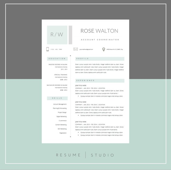 resume template and cover letter template for word  u2022 diy printable super pack  u2022 mac or pc