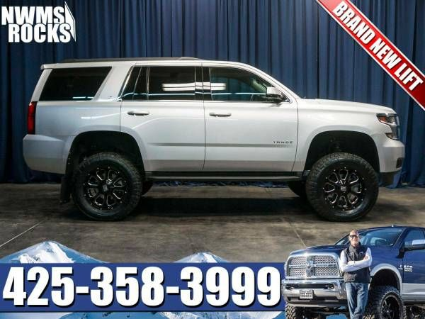 Lifted 2015 Chevrolet Tahoe Lt 4x4 Suv W Leather 3rd Row Seats Chevrolet Tahoe Tahoe Lt Tahoe