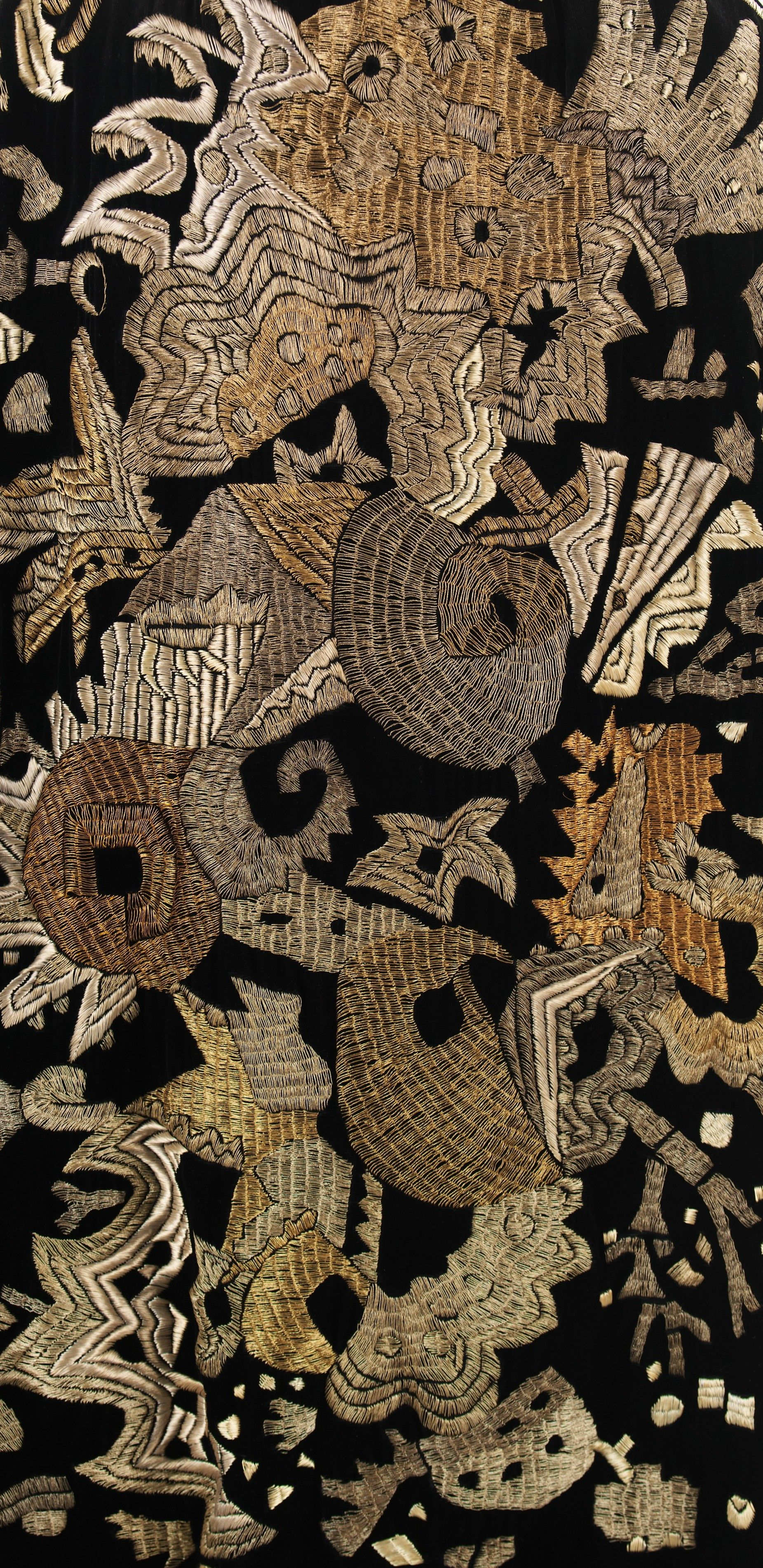 Evening cape_embroidery Designer: Textile attributed Sarah Lipska. Date: ca. 1925 Culture: French