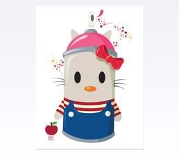 Hello Kitty Art Print by DABS MYLA: Spray Can