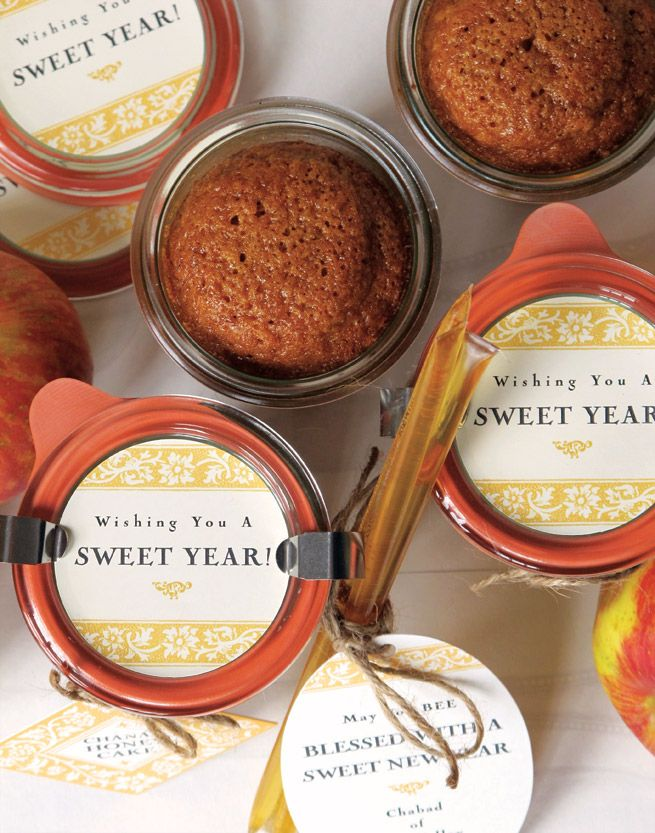 Honey Cake for the Jewish New Year from My Own Ideas blog #recipe #holiday #jar #labels
