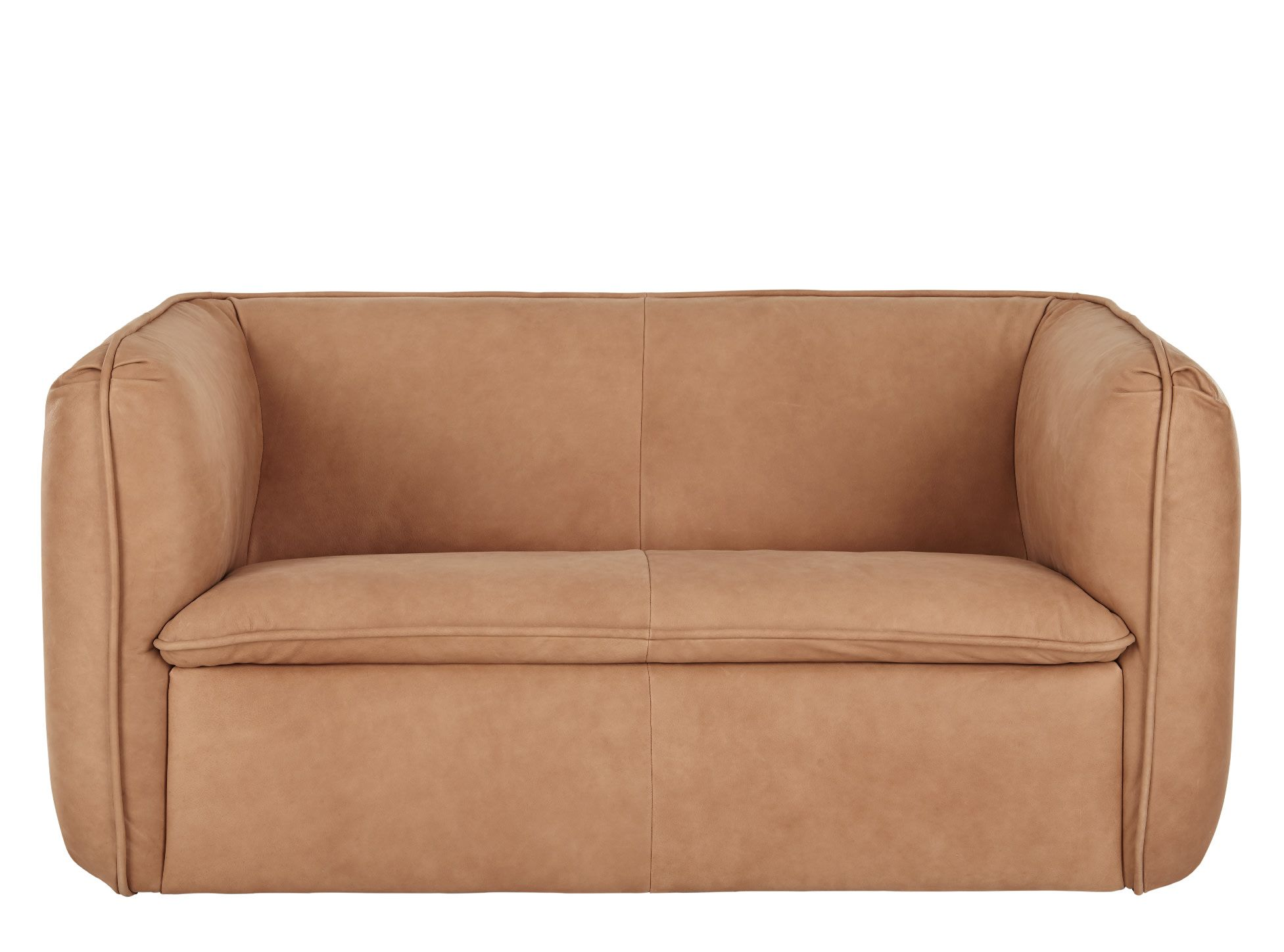 Berko 2 Seater Sofa Tan Leather 2 Seater Sofa Seater Sofa Sofa