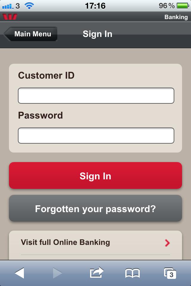 Westpac 2 | Mobile Online Banking | Pandora