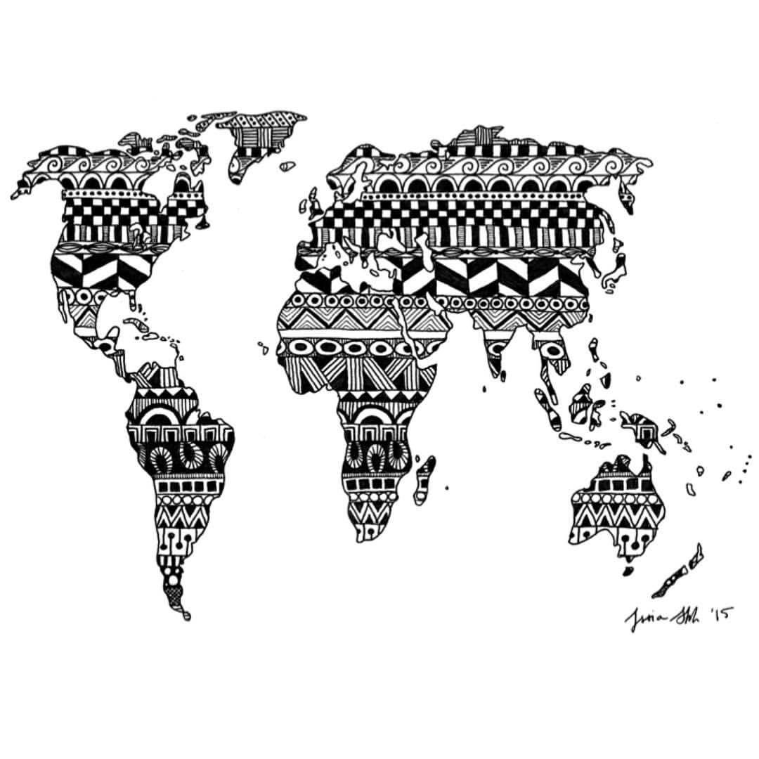 World map zentangle art draw sketchbook doodle blackandwhite world map zentangle art draw sketchbook doodle blackandwhite instaart gumiabroncs Images