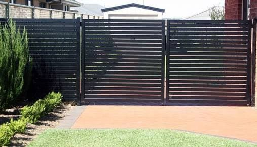 Image Result For Colorbond Slat Fence Railings Outdoor Fence