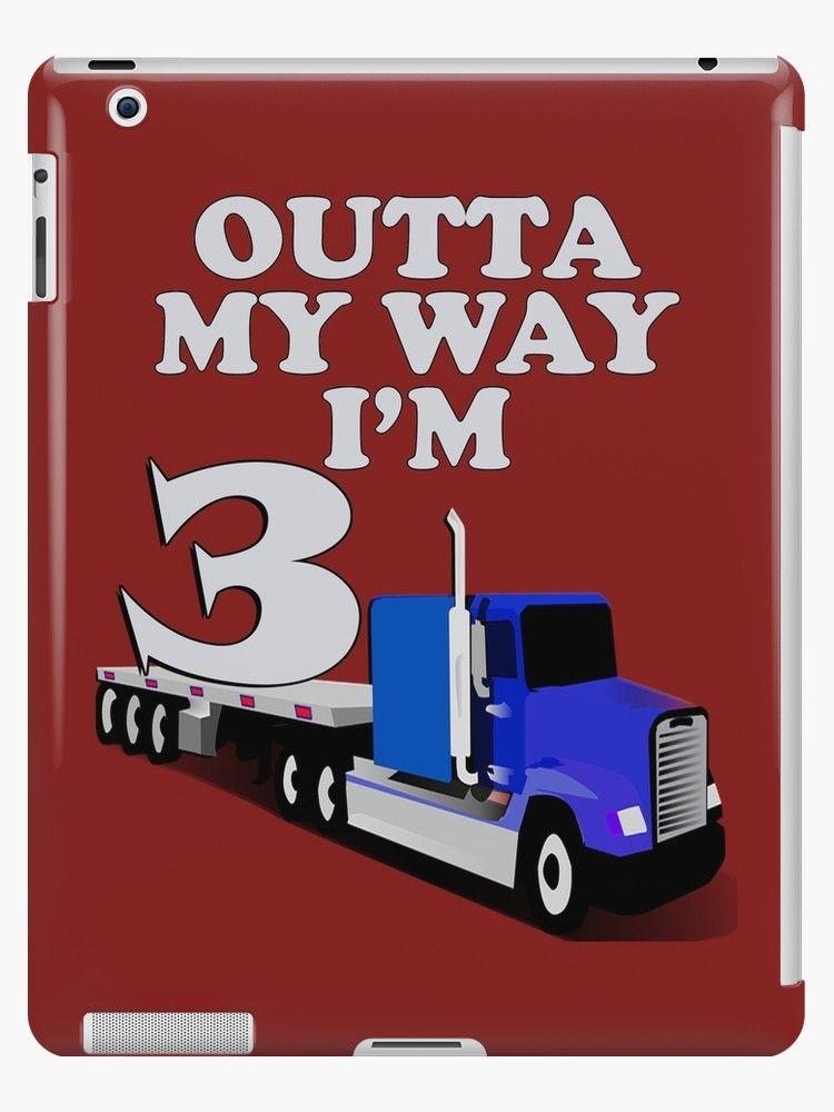 Kids Birthday 3rd Semi Trucks Boy Birthday Gifts Three Year Old