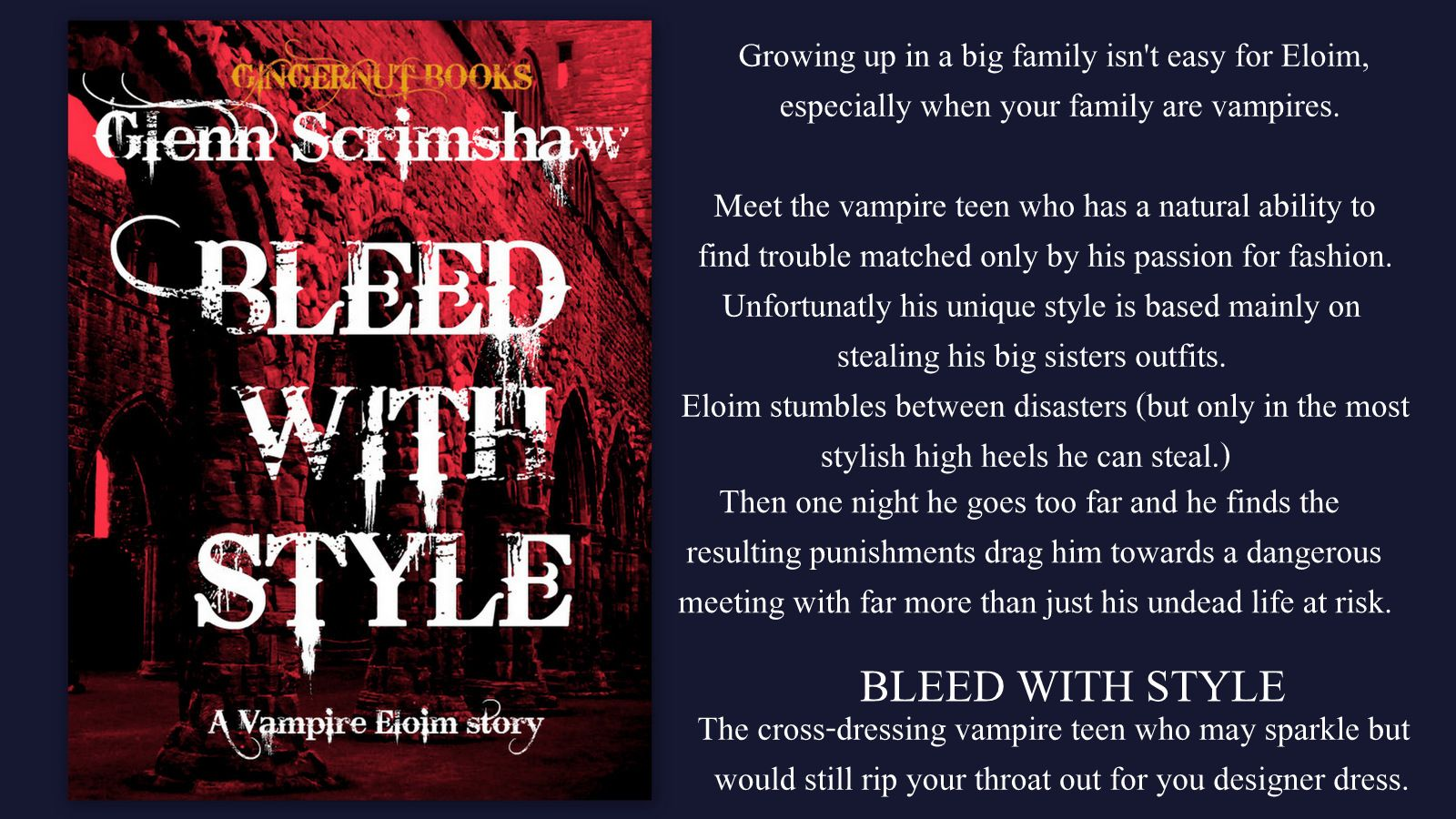 Bleed With Style,the first of the vampire Eloim short stories