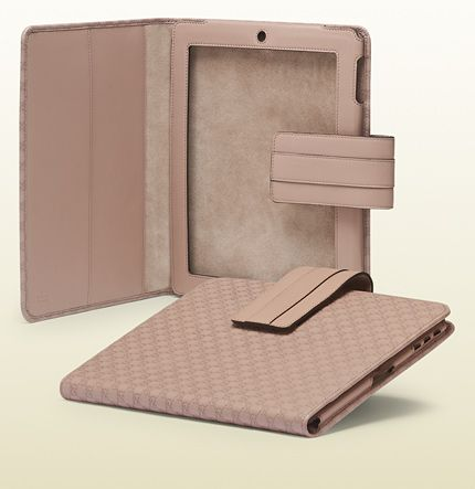 GUCCI-light pink microguccissima leather iPad 2 case