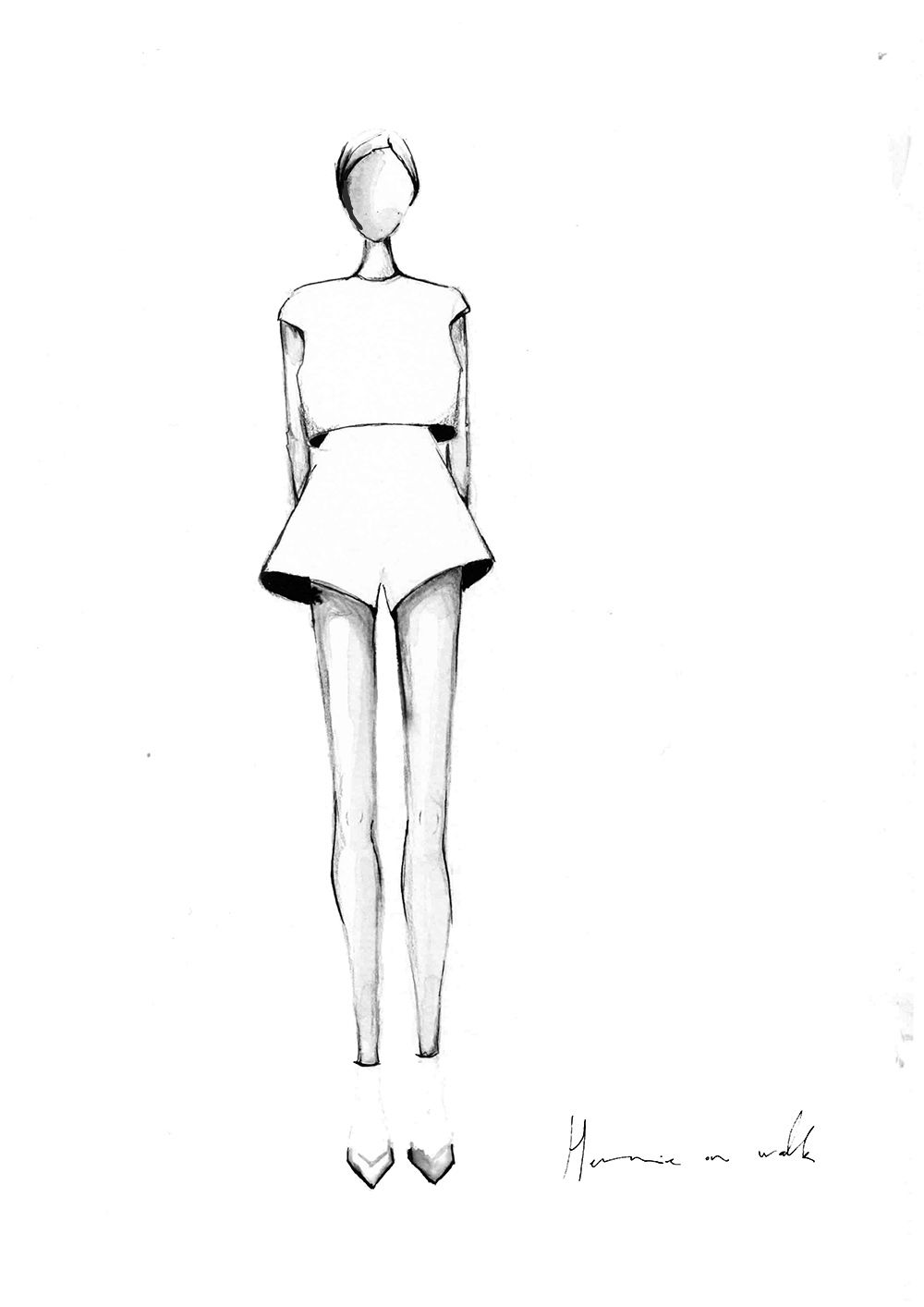 Photo of In 3 steps to successful fashion illustrations with Indian ink