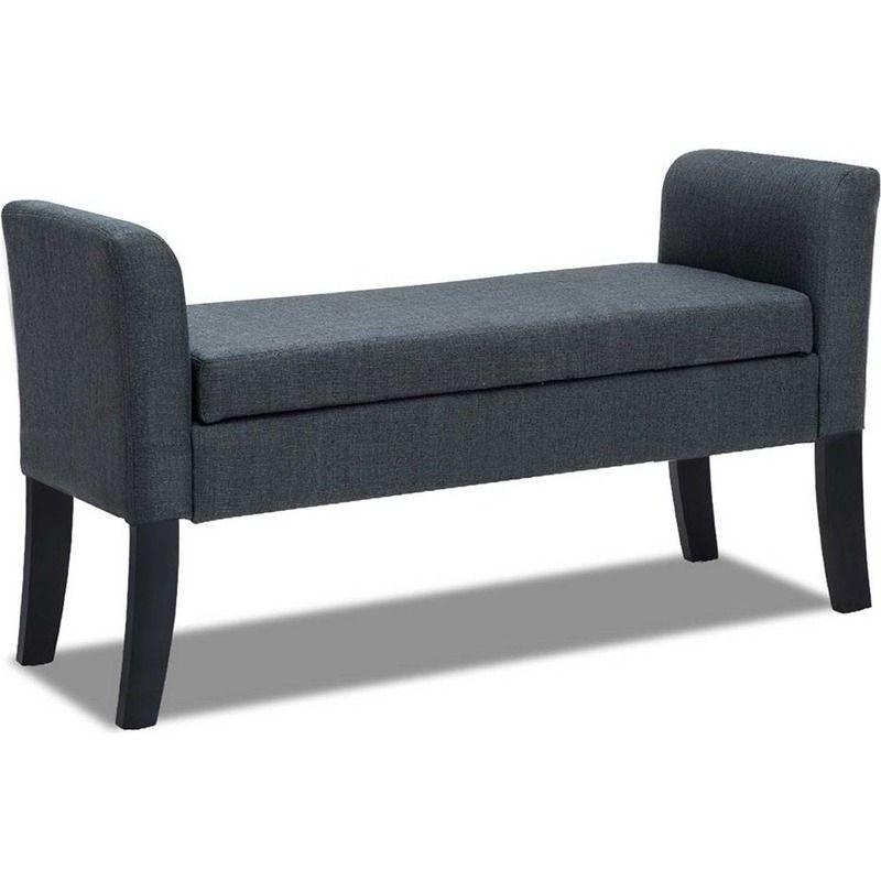 Astonishing Storage Ottoman Footstool With Armrests In Grey In 2019 Creativecarmelina Interior Chair Design Creativecarmelinacom