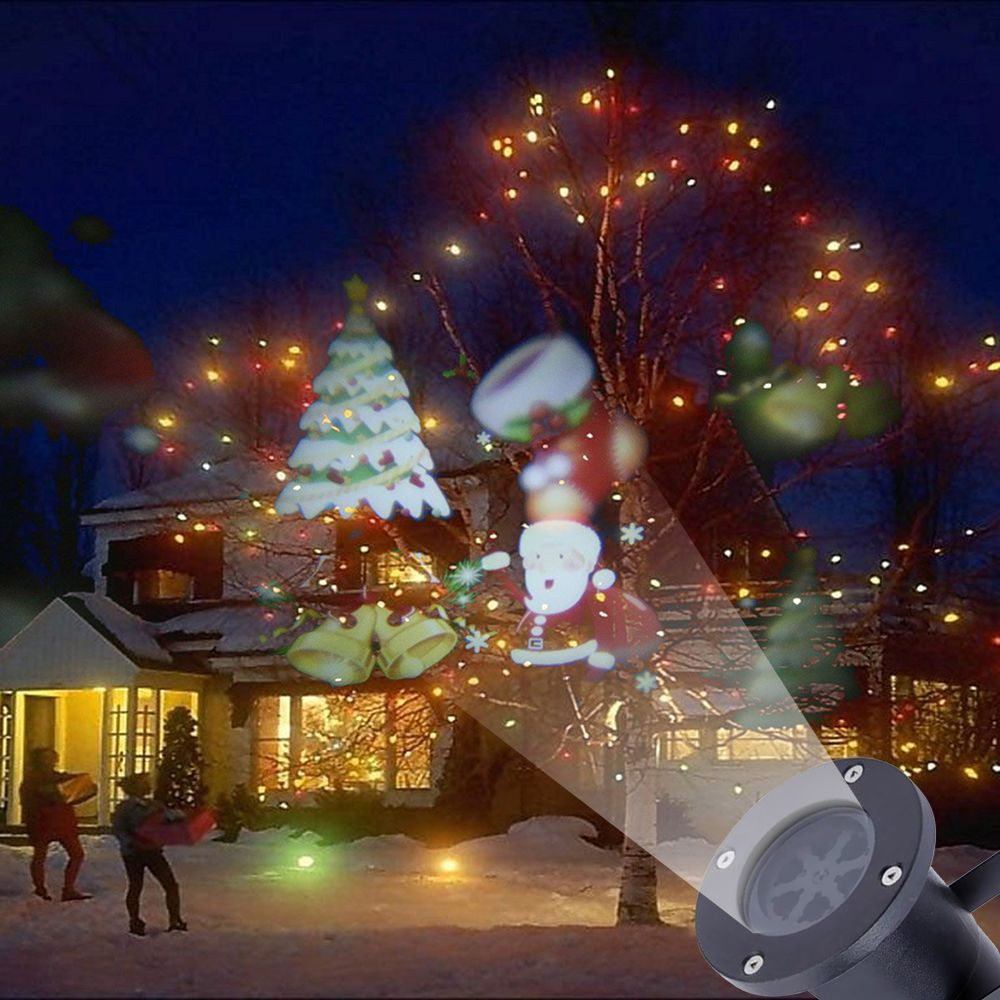 outdoor moving santa claus snow laser projector christmas outdoor led light lamp in home garden yard garden outdoor living outdoor lighting ebay - Christmas Outdoor Projector