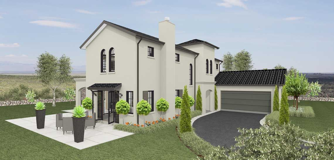 monaco 4 bedroom 2 storey house design landmark homes builders nz