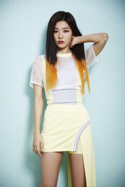 Red Velvet Yellow Dip Dye Red Velvet Seulgi Red Velvet Velvet Fashion