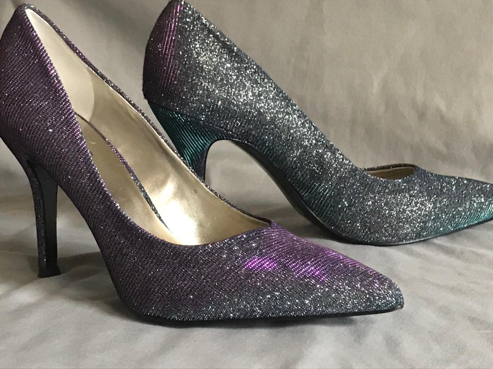 f9d42d16bfaa Nine West Womens Prom Heels Shoes Color Shifting Size 7 M NWOT ...