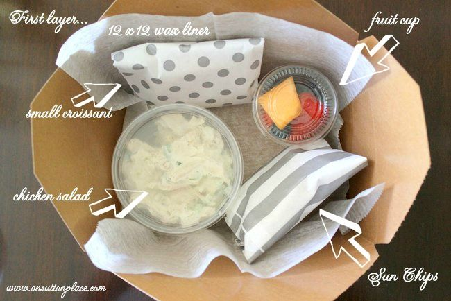 92 food ideas for party lunch boxes these cute paper sandwich diy box lunch for a picnic or party forumfinder Gallery