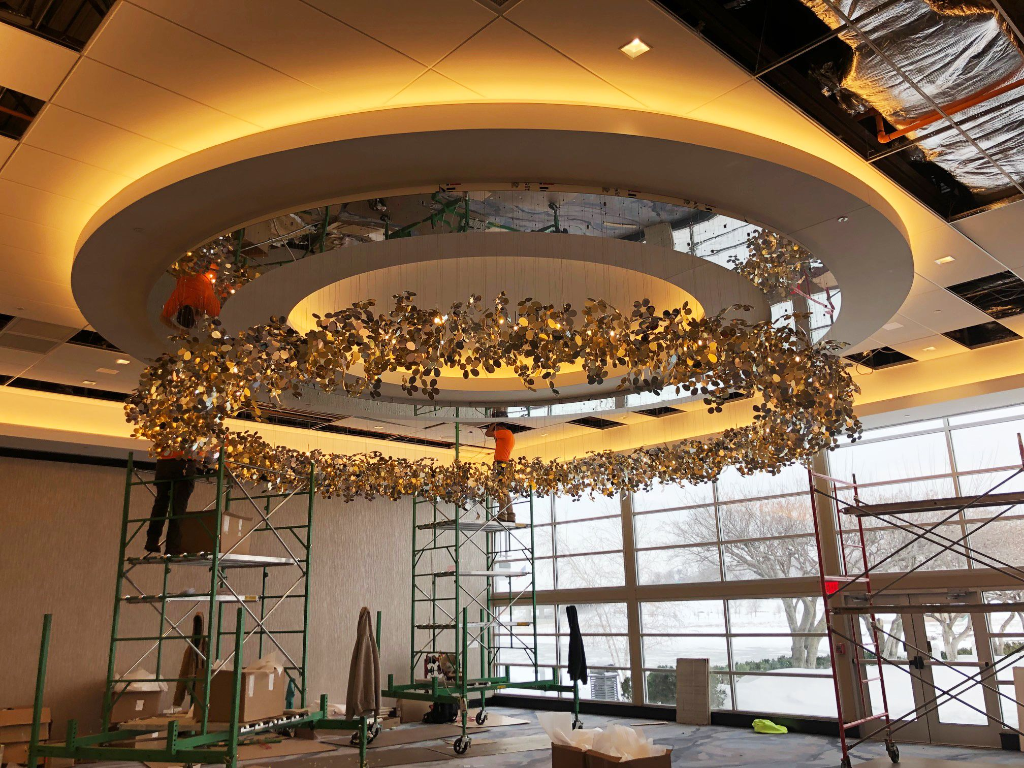 9c94cf4d1 ... Yellow Goat Design. Our Arboreal fixture at Delta by Marriott South  Sioux City!