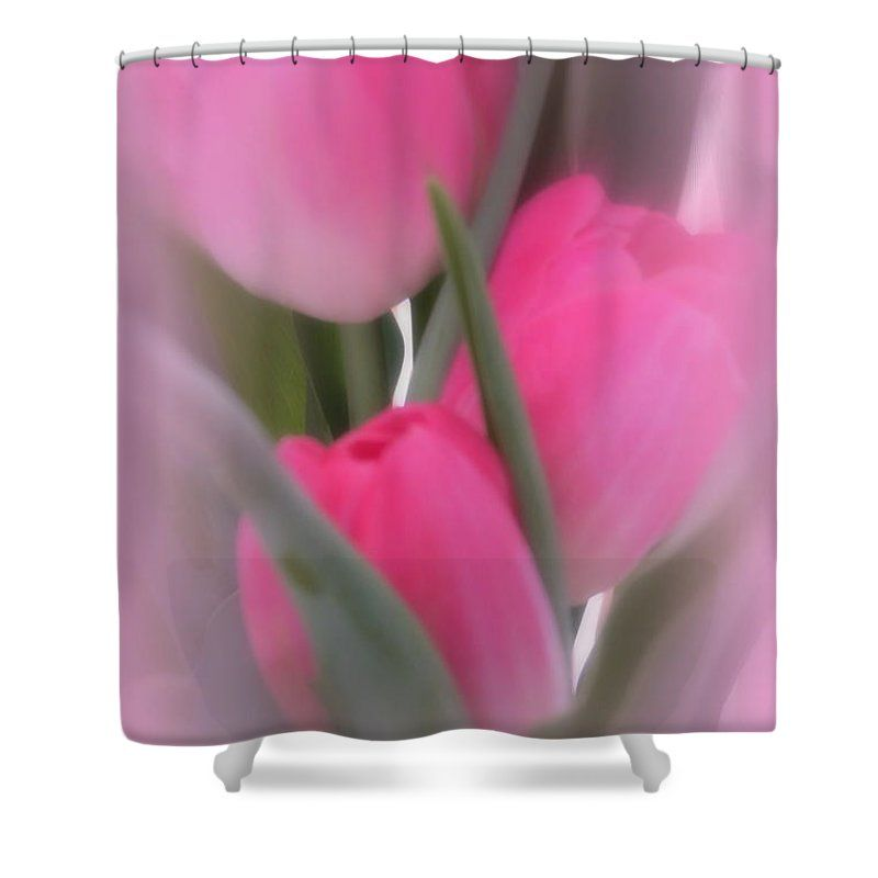 A Vision Of Pink Tulips Shower Curtain For Sale By Kay Novy Pink