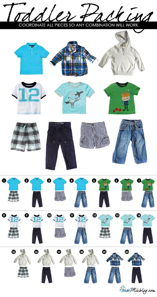 Vacation outfits to pack for toddler boy