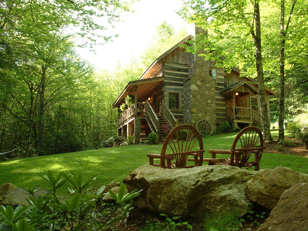 cabins yards the pit s on wifi in creek ha tub area deal luxury cabin nc campfire conservation log near image boone fireplace bed secluded from hot property beach home