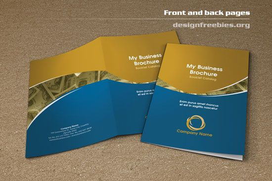 Free Bifold Booklet Flyer Brochure InDesign Template No 2 Free