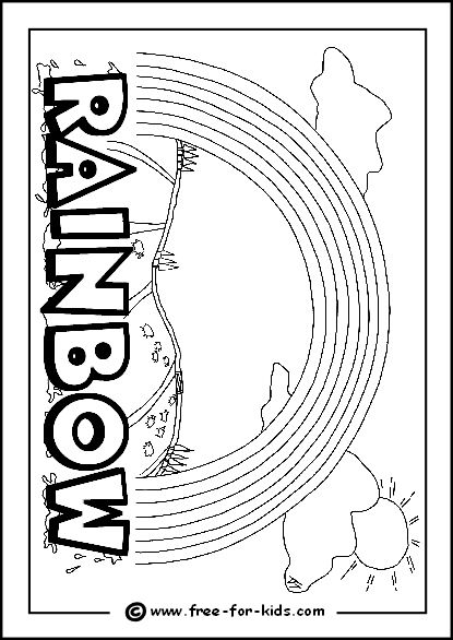 image of rainbow colouring page weather pinterest weather - Rainbow Coloring Pages For Kids Printable