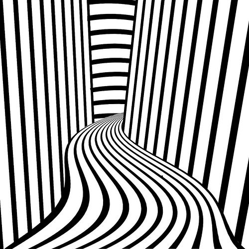 Line Optical Designory : Hall of lines op art and illusions