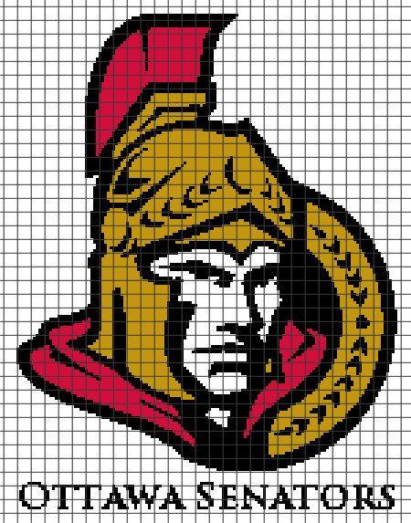 Ottawa Senators Crochet Graphghan Pattern (Chart/Graph AND Row-by ...