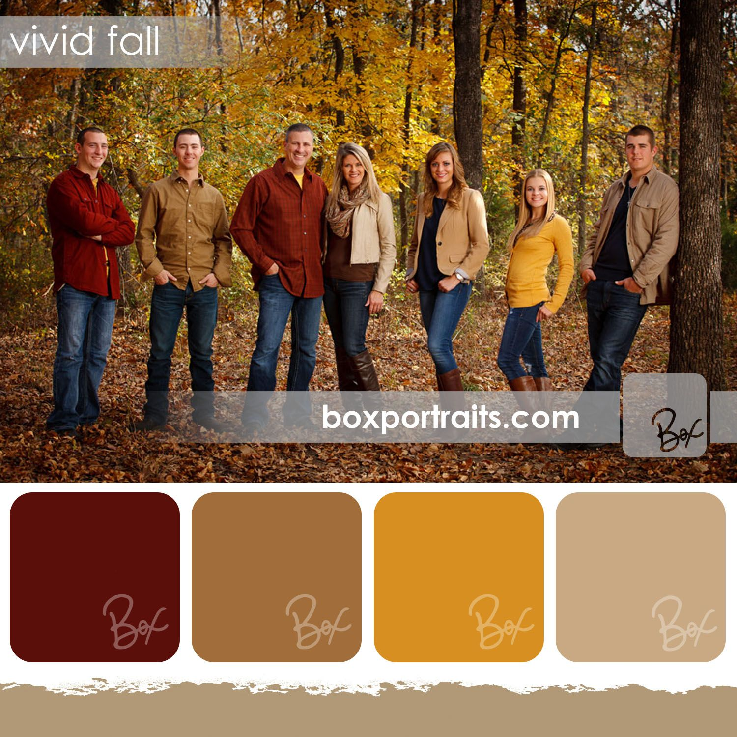 vivid fall family portrait color schemes ideas pinterest family pictures family pics. Black Bedroom Furniture Sets. Home Design Ideas