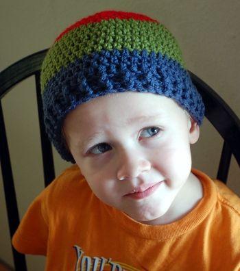 COOL HAT - free crochet pattern   Crochet Baby-Child Hats/Scarves ...