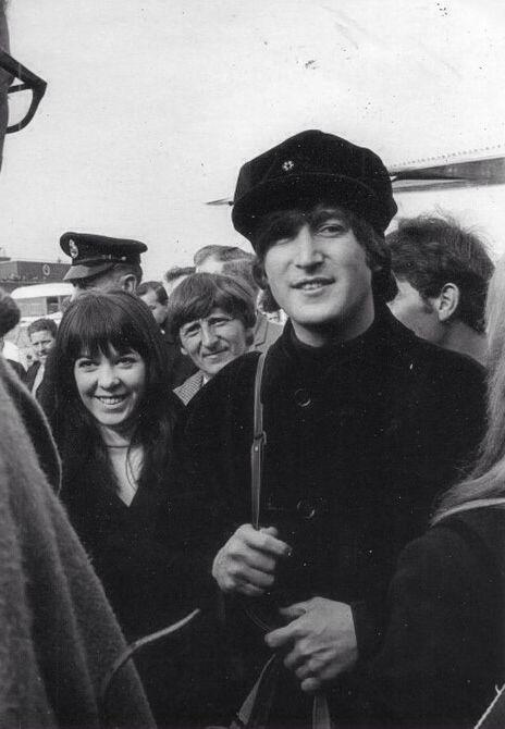 John Lennon and Maureen Cox.