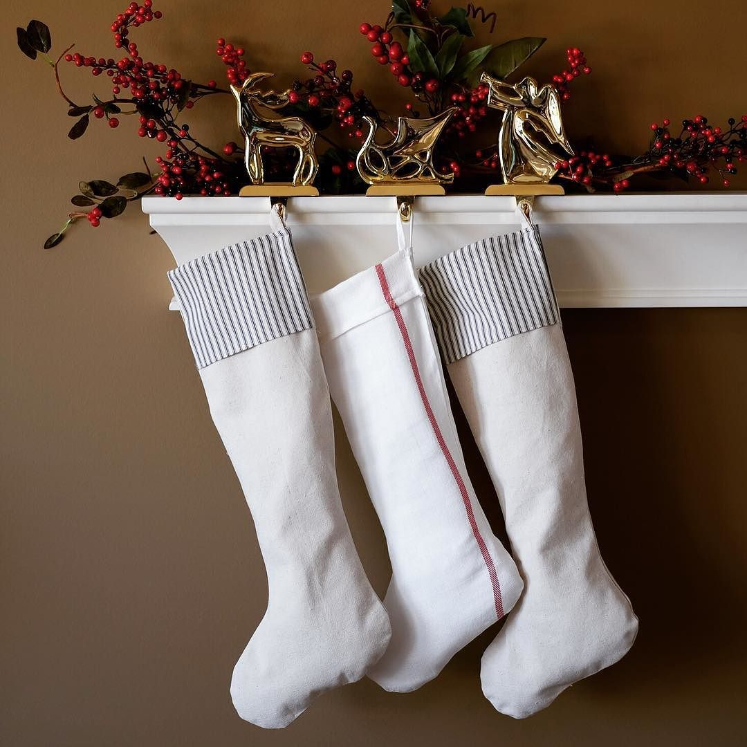 ...in hopes that St. Nicholas soon would be there.  #stockings #stockingshungbythechimneywithcare #oldlakegeorge #ourbestfinds