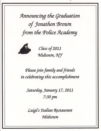 12 Police Academy Graduation Party Invitations Custom Pinterest