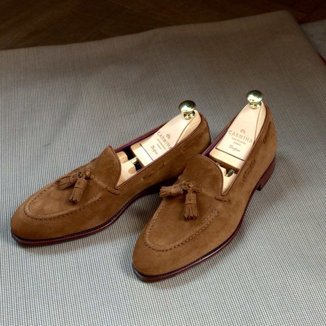 a9d5ab6749feb lnsee: Braided Tassel Loafers in Snuff Suede for the summer   Tip ...