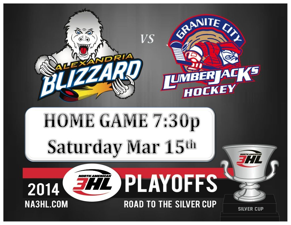 Playoffhockey This Weekend At The Rcc The Blizzard Take On The Granite City Lumberjacks In Hopes Of Starting Their Journey T Granite City Blizzard Alexandria