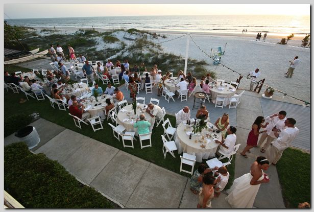 Outdoor Beach Wedding Reception For 100 Guests At Cay Pointe Villa On Indian Rocks Florida Near Tampa St Petersburg Clearwater