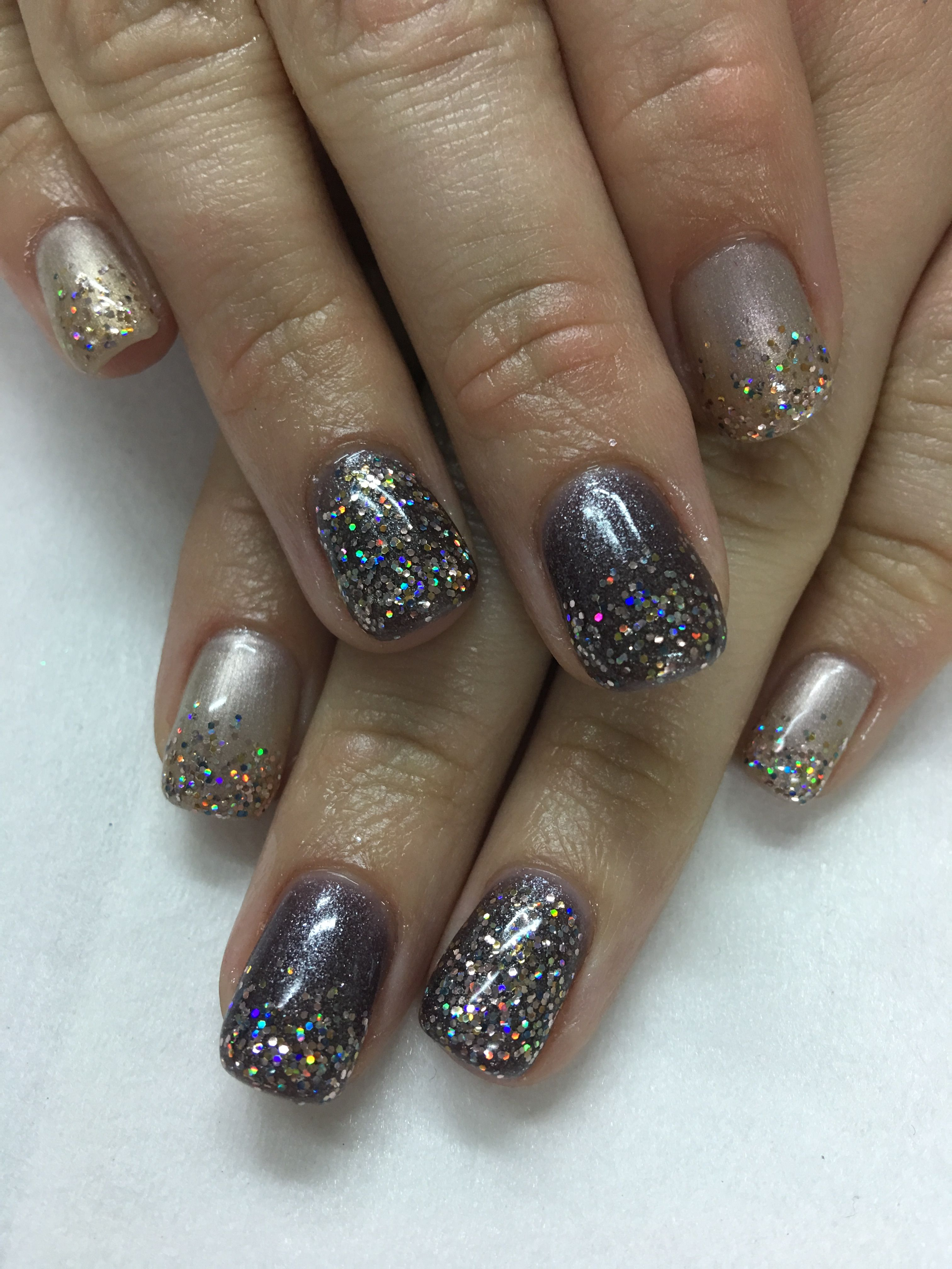 Spring or Fall Shimmer Glitter Nails | Gel Nail designs | Pinterest ...