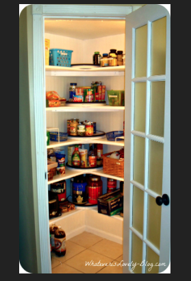 Nice Corner Walk In Pantry With Images Corner Pantry Corner
