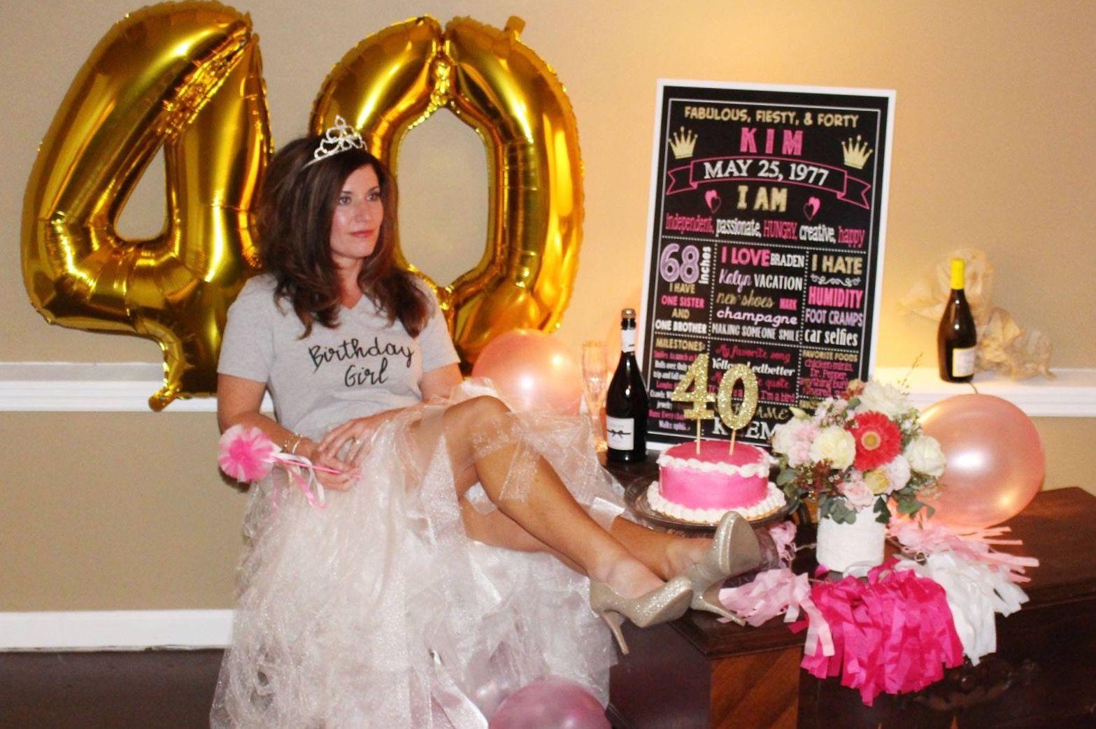 40th Birthday Photo Shoot Adult Birthday Party Birthday