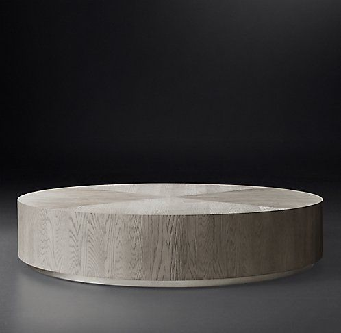 Oak coffee tables are a good type of coffee table for long term use and  survival in a house full of pets and children. Oak is traditional for coffee  tables, - Machinto Round Occasional - Brown Oak/Brass RH Modern