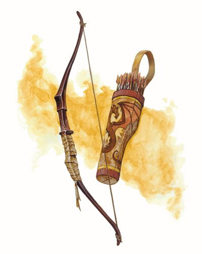 Dragonbone Bow & Quiver  | Magic Items  | Objet magique, Arc