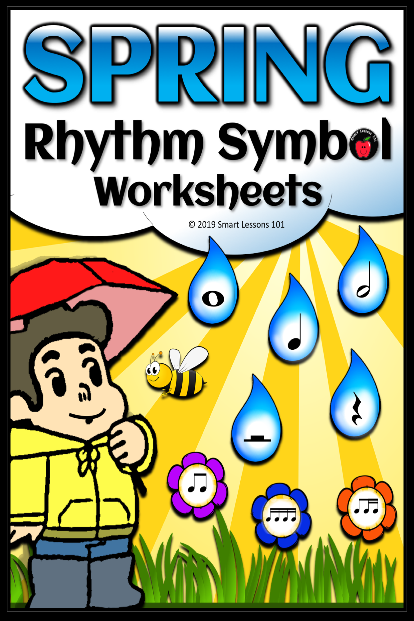 Distance Learning Spring Rhythm Worksheets Spring Music