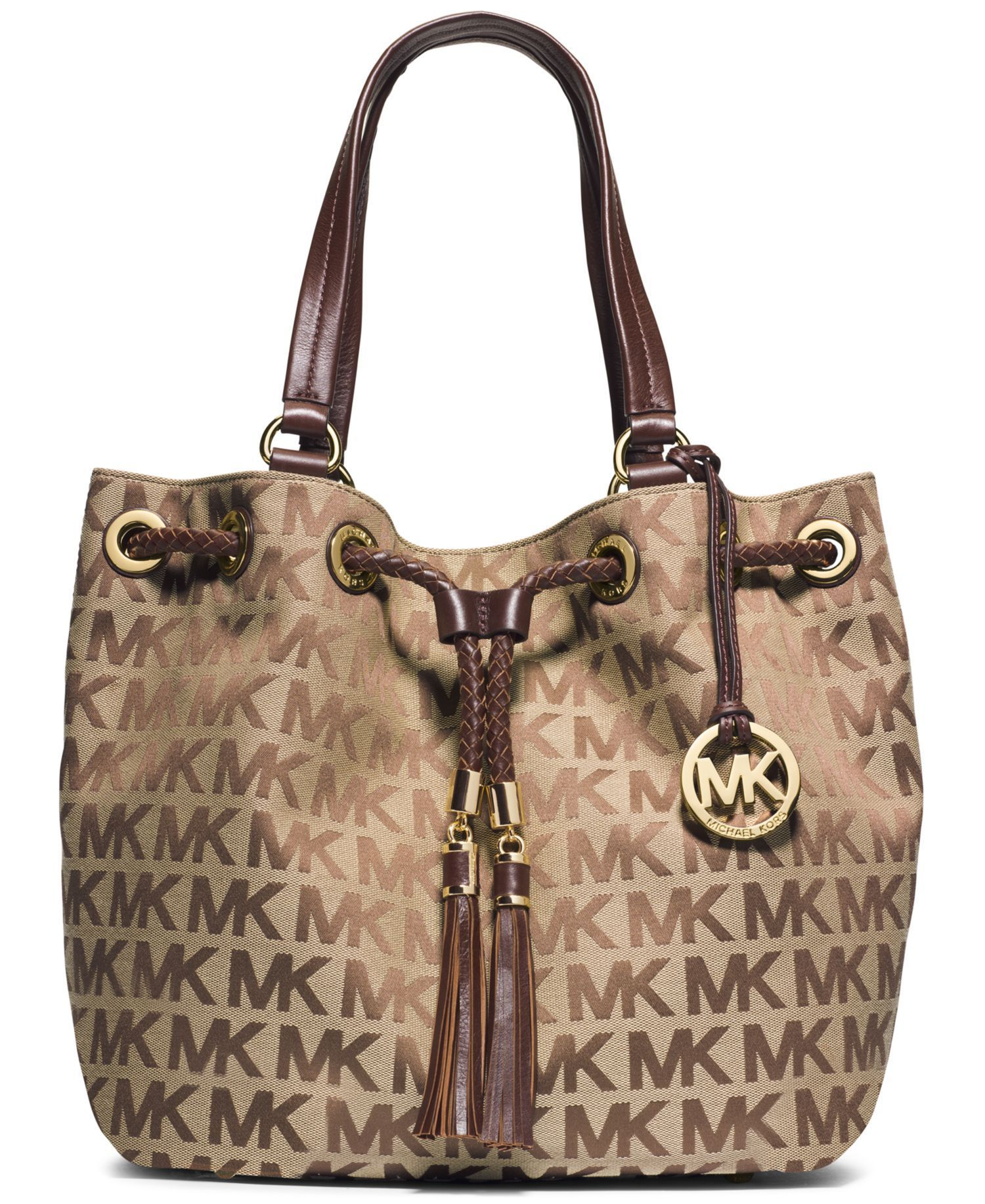 MICHAEL Michael Kors Jet Set Item Large Gathered Tote by Macy\u0027s - Found on  HeartThis.
