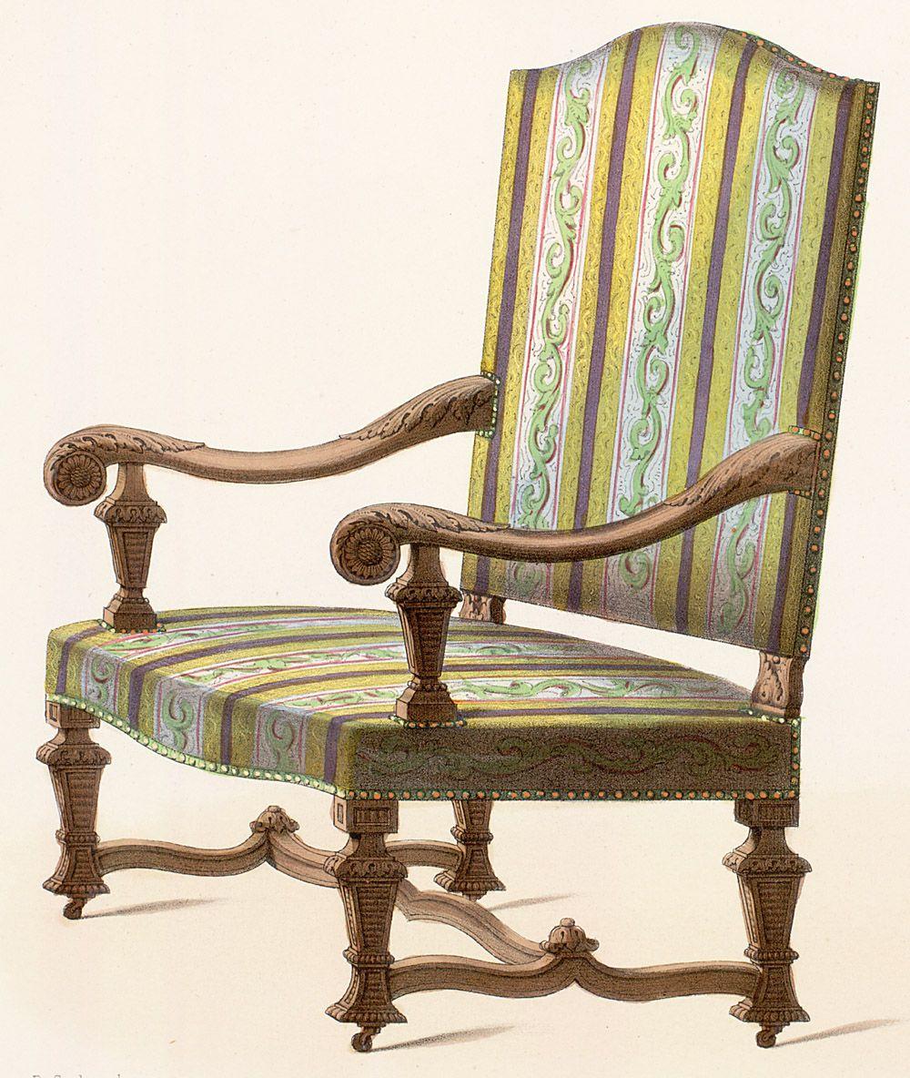 Silla Luis XIV  Sillones  Pinterest  Muebles antiguos
