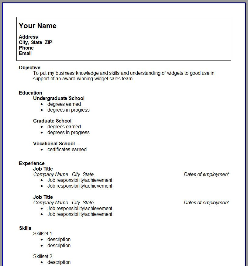 college student resume template open templates job download for - how to make a resume as a highschool student