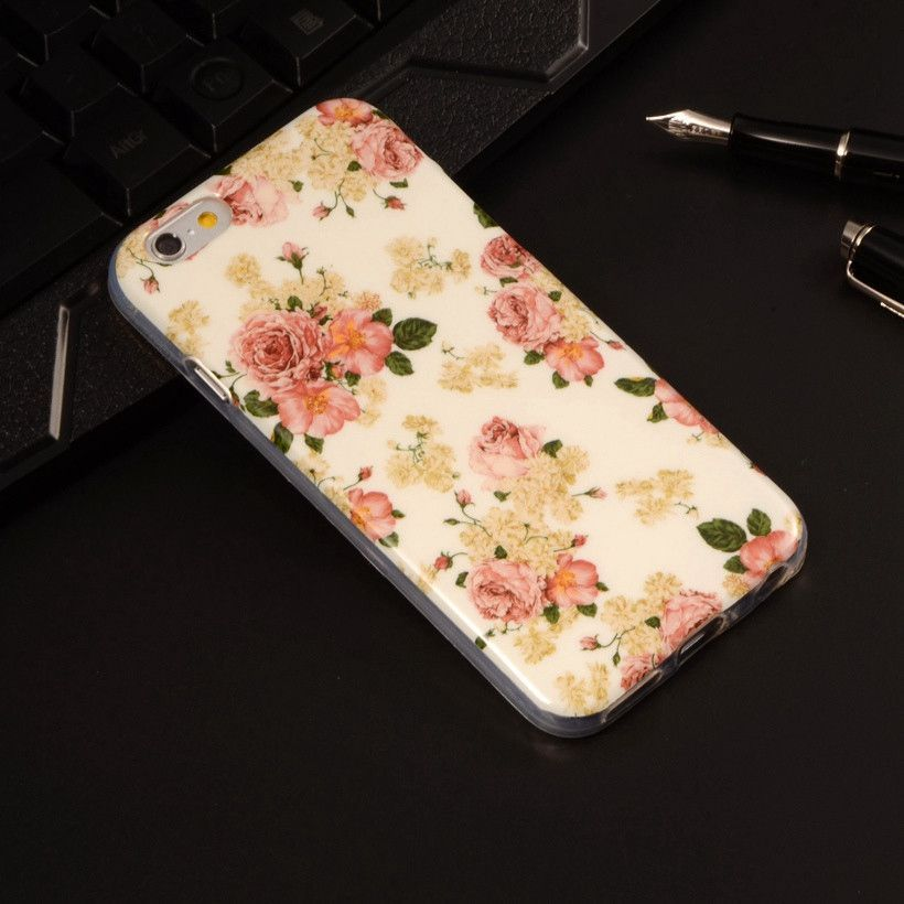 "Butterfly Flower kylie Lip Coque For Apple iPhone 6 iphone 6s Case 4.7"" Cute Soft Plastic Silicone Cartoon Printing Phone Cover"